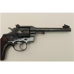 Colt Officer's Target Model revolver. .38  Special caliber, Serial #308079.  The pistol  is in very