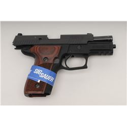 "Sig Sauer P229 Elite Semi-Auto Pistol, 9mm, 3  ¾"", black finish, rosewood grips, night  sights, shor"