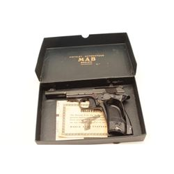 MAB Le Chasseur semi-auto target pistol, .22  LR caliber, Serial #4398.  The pistol is in  very good