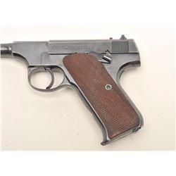 Colt Pre-Woodsman semi-auto pistol. .22 Long   Rifle caliber, serial #49279.  The pistol is   in ver