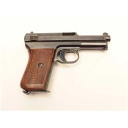 "Mauser Model 1934 semi-automatic pistol,  7.65mm caliber, 3.5"" barrel, blued finish,  checkered wood"