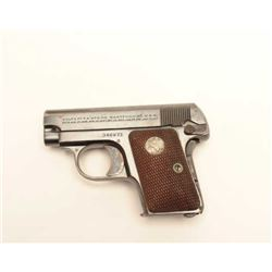 Colt Model 1908 semi-auto pistol, .25  caliber, Serial #346871.  The pistol is in  very good overall