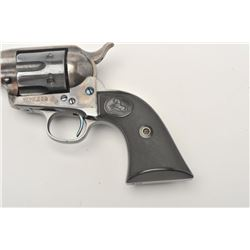 "Colt SAA revolver, .41 caliber, 5.5"" barrel,  blued and case hardened finish, checkered  hard rubber"