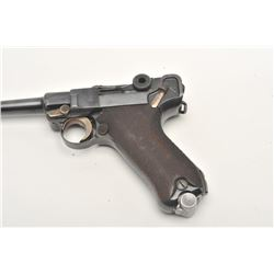 "Weimar Republic Police reworked Luger  semi-automatic pistol, 9mm caliber, 4""  barrel, blued finish,"