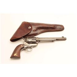 "Colt U.S. Cavalry Model SAA revolver, .45  caliber, 7.5"" barrel, blued and case hardened  finish, wo"