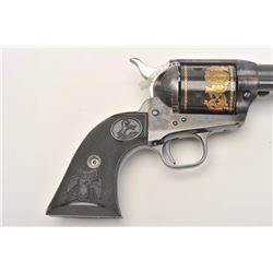 Colt SAA Commemorative Bozeman Trail Special  Edition revolver in factory wood display case  and Col