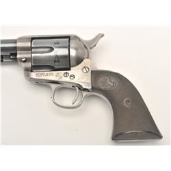 "Colt SAA revolver, re-barreled to .38 Special  caliber, 5.5"" barrel, blued and case  hardened finish"