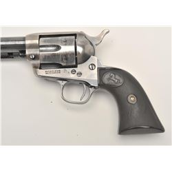 "Colt SAA revolver, .38 W.C.F. caliber, 7.5""  barrel, blued and case hardened finish,  checkered hard"