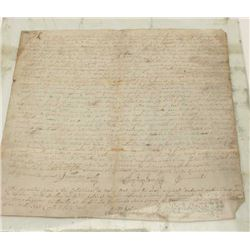 Louis XV period document (possibly a deed),  dated 1732, in French and very well detailed  and descr