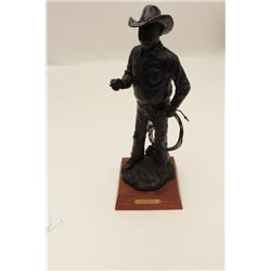 "Bronze by Joe Beeler entitled ""Charlie"" (#44  of 100), approximately 14"" in height and on  wood base"
