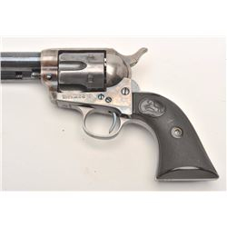 "Very nice Colt SAA revolver, .45 caliber,  7.5"" barrel, blued and case hardened finish,  checkered h"