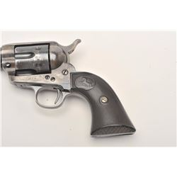 "Colt SAA revolver, .32 W.C.F. caliber, 4.75""  barrel, blued and case hardened finish,  checkered har"