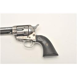 "Colt SAA revolver, scarce .38 Colt caliber,  5.5"" barrel, blued and case hardened finish,  checkered"