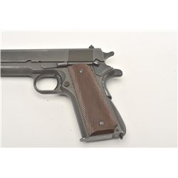 """United States Property marked Model 1911-A1  semi-automatic pistol by Ithaca, .45 caliber,  5"""" barre"""