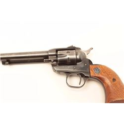 """Ruger Single Six revolver, .22 caliber with  extra cylinder, 6.5"""" barrel, blued finish,  wood medall"""
