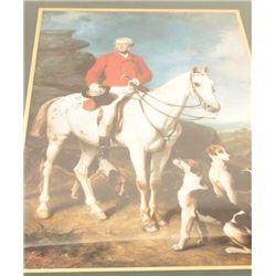 Two beautifully framed and matted color  prints (ca.1980's) of Colonial figures, one  identified as
