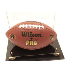 Wilson Official NFL football autographed by  former Los Angeles Rams quarterback Jim  Everett.  The