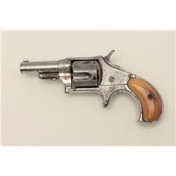 "Remington Smoot spur trigger revolver, .41  caliber, 2.5"" barrel, horn grips, S/N 1683,  in overall"