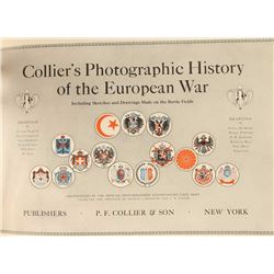 'Collier's Photographic History-European War'  Copyright 1915 by P.F. Collier & Son,  including sket