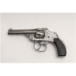 """Smith & Wesson New Departure hammerless DA  revolver, .32 caliber, 3.5"""" barrel, S/N  118832, in over"""
