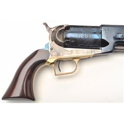 Italian reproduction of a Colt Walker  percussion revolver, .44 caliber, blued and  case hardened fi