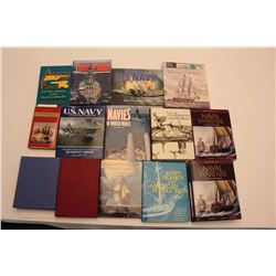 Lot of approximately 19 mostly hardback books   related primarily to the U.S. Navy and   covering it