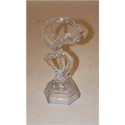 "Deco glass dancing lady, Italian per  consignor, approximately 11"" in height;  mid-20th Century."