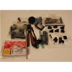 Box lot of misc. shooters items and sight.  Est.: $60-$120