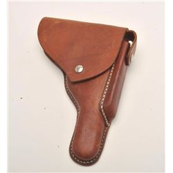 1950-1960's leather commercial holster for a  P-38.  The US made holster is in good to very  good co