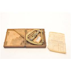 Argentine military sighting instrument for   artillery M1898 in original box with   instruction shee