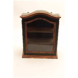 """Country French style Antique Display Cabinet,  locks, 2 shelves. Approx. 19"""" ht 10"""" width.  Good con"""