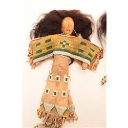 """Beaded man & woman dolls; approximately 13""""  in height; Indian style.    Est.:  $150-$300."""