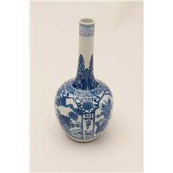 Classic blue and white Chinese porcelain  vase; 6 character signature; 150-$300 years  old estimated