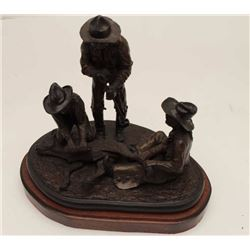 """Josef Duorak bronze, approximately  11""""x16""""x15"""", 1979 branding calf (16 of 25).    From the estate o"""