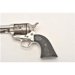 "Colt SAA revolver, .45 caliber, 7.5"" barrel,  original to-the-period nickel finish,  checkered hard"
