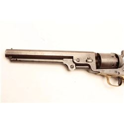 Colt 1851 Navy revolver 3rd Model martially  marked and inspected for Army use, S/N 62623.  This rev