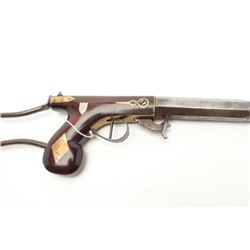 """Under hammer percussion buggy rifle with wire  frame detachable shoulder stock by """"D.H.  Hilliard, C"""
