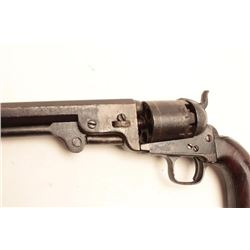 Colt 1851 Navy revolver London series with  iron trigger guard and back strap, London  address, S/N