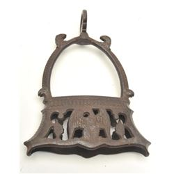 Forged iron stirrups circa 17th to early 19th  century with eagle decorations probably  Spanish from