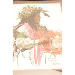 """Signed print Beitina Steinke, 1977 (287 of  1,000); approximately 31"""" x 24"""".  From the  estate of El"""