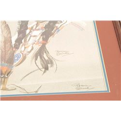 """Signed print Beitina Steinke, approximately  30"""" x 24"""".  From the estate of Elmer E.  Taylor.     Es"""