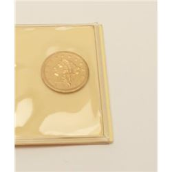 1847 2 ½ dollar U.S. gold. XF. Not  professionally graded. Old collector's horde.  $300-$600