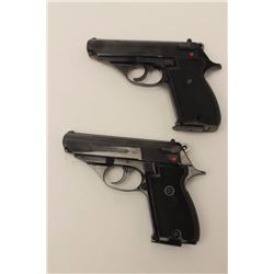 Custom double cased set of Astra Model  Constable II DA semi-automatic pistols, .380  caliber, 3.5""