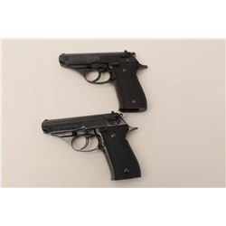 "Custom double cased set of Astra Model A-60  DA semi-automatic pistols, .380 caliber, 3.5""  barrels,"