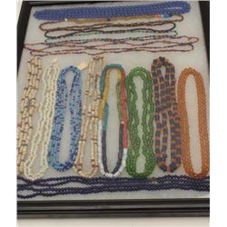 Lot of authentic Indian beaded and trade  necklaces, old and modern but all collected  ca. 1950-79 b