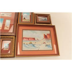 Five original Robert Draper miniatures.        From the estate of Elmer E. Taylor.      Est.:  $150-