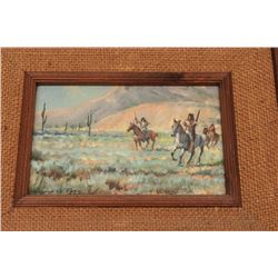 Oil on canvas signed Gordon G. Pond (Winslow,  AZ); inscribed as gift to Elmer E. Taylor  (1982); ap
