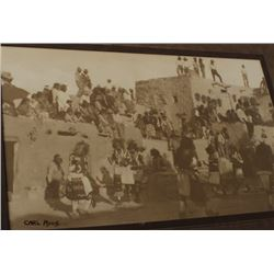 "Carl Moon signed photo of Hopi Snake Dance,  approximately 6.5"" x  10.5""; sepia tone.      Est.:  $1"