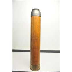 "U.S. Navy wooden dummy shell, for a MK2, 8""   cannon used for training gun crews (ca.   1944); appro"