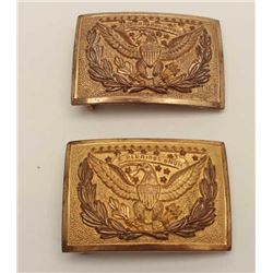 Model 1874 Eagle U.S. Officer's Buckles. Turn  of the century, original near fine  condition. Est$20